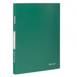 Папка с боковым металлическим прижимом зелёная 0,6 мм