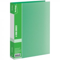 Папка на 4-х кольцах 40 мм зелёная, 0.7 мм