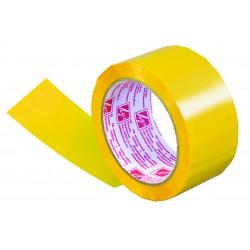 Клейкая лента упаковочная 48*66 жёлтая Луч, 40 мкм