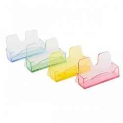 Подставка для визиток пластиковая цветная, ассорти