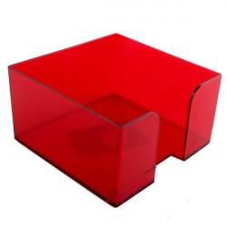 Подставка под куб 9*9*5 тонированная красная (ВИШНЯ)
