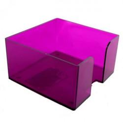 Подставка под куб 9*9*5 тонированная фиолетовая (СЛИВА)