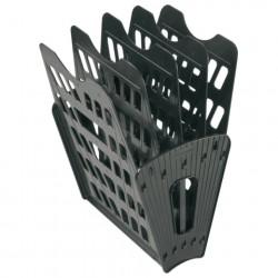 Лоток для бумаг (веер) 5 секций, 4 отделения, чёрный