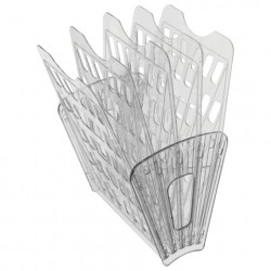 Лоток для бумаг (веер) 5 секций, 4 отделения, прозрачный