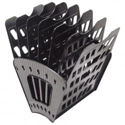 Лоток для бумаг (веер) 7 секций, 6 отделений, чёрный
