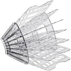 Лоток для бумаг (веер) 7 секций, 6 отделений, прозрачный