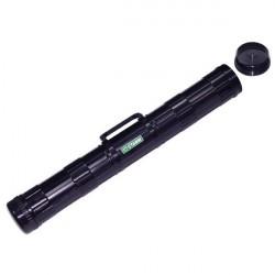 Тубус для чертежей А1, длина 68 см, диаметр 9 см, чёрный с ручкой, ПТ21