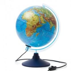 Глобус физико-политический диаметр 250 мм с подсветкой