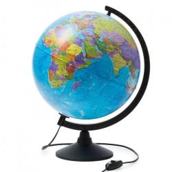 Глобус физико-политический диаметр 320 мм с подсветкой