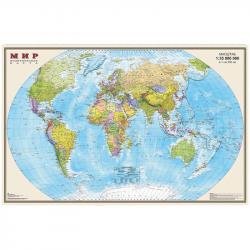 """Карта """"Мир"""" политическая 900*580 мм, 1:35 млн, ламинированная"""