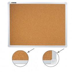 Доска пробковая для объявлений 45*60 см, алюминиевая рамка