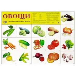 Демонстрационный плакат Овощи
