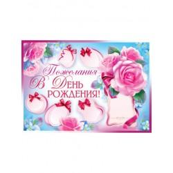 Плакат Пожелания в День рождения