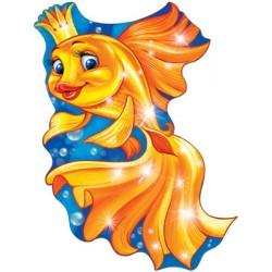 Плакат фигурный Золотая рыбка
