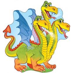Плакат фигурный Змей Горыныч