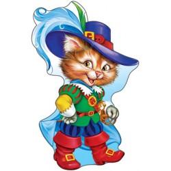 Плакат фигурный Кот в сапогах
